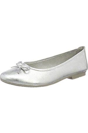Soft Line 22164, Bailarinas para Mujer, (White/Silver)
