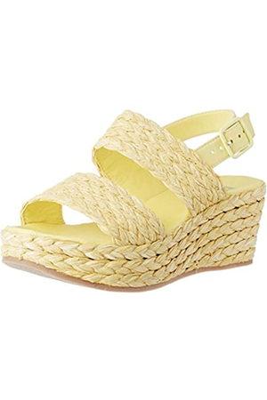 Bensimon Sandale S Compensees, Sandalia con Pulsera Mujer, (Citron 0249)