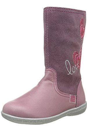 Agatha Ruiz de la Prada 161925 - botas de media caña sin forro y botines Niñas, Pink (Malva Y Oscuro)