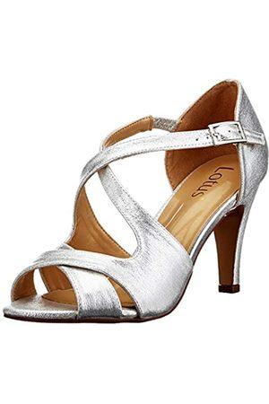 Lotus Sadia, Zapatos de tacón con Punta Abierta Mujer, (Silver JJ)