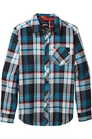 Marmot Anderson Lightweight Flannel Camisa para Exteriores de Manga Larga, Camisa de Senderismo, con protección UV, Transpirable, Hombre, Black