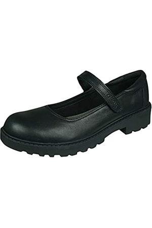 Geox J Casey Girl P, School Uniform Shoe, (Black)