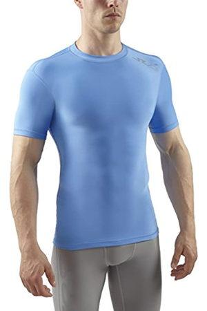Sub Sports Hombre Manga corta - Cold - Camiseta de compresión térmica de Manga Corta para Hombre, Color Cielo