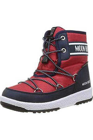 Moon Boot Jr Boy Mid WP 2, Botas de Nieve Hombre, Navy Blue/Red