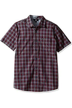 Volcom Amerson Manga Corta de Media Manga Check Camiseta Camisa De Cuadros , Hombre, Amerson Hemd Kurzarm Halbarm Check Shirt Herren Kariert Blau