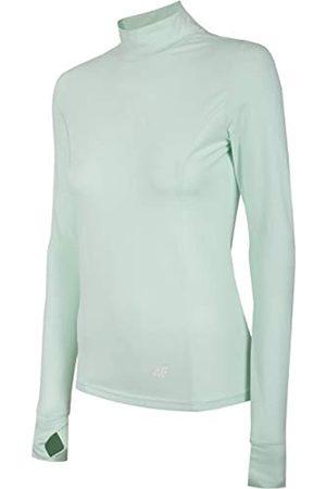 4F Damen Langarmshirt Filomena Camisa de Manga Larga, Mujer