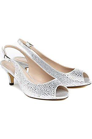 Paradox London Pink Celeste, Zapatos con Tacon y Correa de Tobillo Mujer, (Silver 40)
