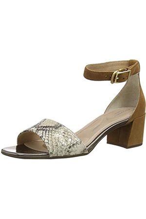 Rockport Total Motion Alaina Ankleband Sandal, Sandalia con Pulsera Mujer, (Vanilla Snake 002)