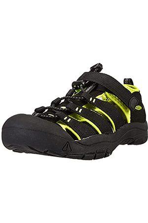 Keen Newport H2, Sandalias de Senderismo Niñas, (Black/Lime Green)