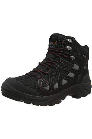 Regatta Burrell II, Walking Shoe Hombre, Black/Granite