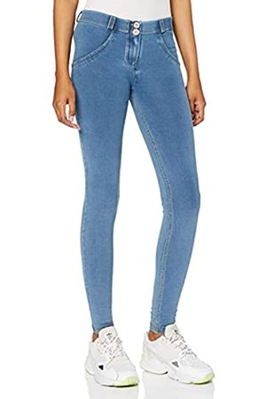 Freddy Pantalón WR.UP® superskinny de Talle y Largo estándar en Punto de Claro - Jeans Borrar-Costuras Amarillo - Small