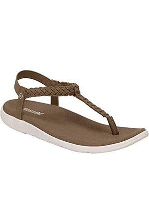 Regatta Santa Luna' PU Leather Elasticated Heel Strap Lightweight Rubber Outsole Sandals, Sandalia Mujer, Cuero/Arena