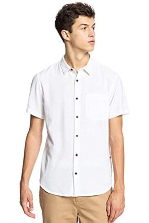 Quiksilver Hombre Casual - Time Box Camisa de Manga Corta para Adulto