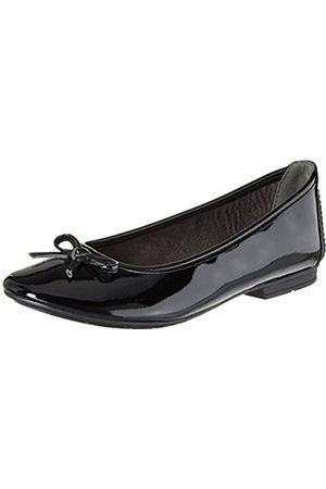 Soft Line 22163, Bailarinas Mujer, (Black Patent)