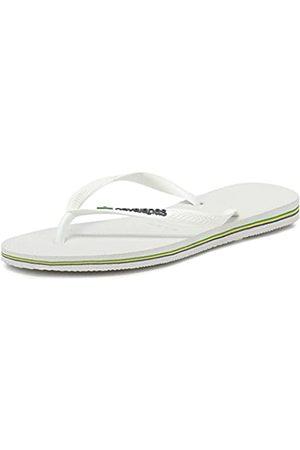 Havaianas Slim Brasil Logo, Chanclas para Mujer, (White)