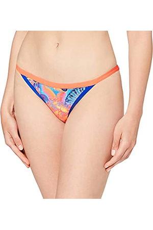 Speedo Mujer Bikinis - Hi Five Flash Tulip Brief AF Parte Inferior Bikini, Mujer, Navy/Chroma Blue/Neon Orchid/Psycho Red