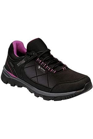 Regatta Chaussures Techniques De Marche Highton, Zapato para Caminar Mujer, Viola Negra/Vívida