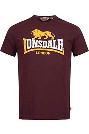 Lonsdale London Hombre Polos - Camiseta Clásica de Color Buey para Hombre con Logotipo de León Vintage de Corte Regular