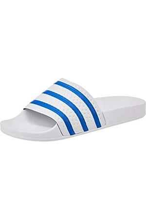 adidas Adilette, Slide Sandal Hombre, Footwear White/Glory Blue/Footwear White