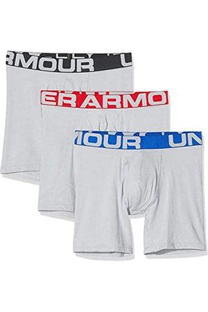 Under Armour 3 Pack Charged Cotton Sports Underwear (15 cm) Calzoncillos bóxer de Secado rápido, cómoda Ropa Interior Masculina, Hombre