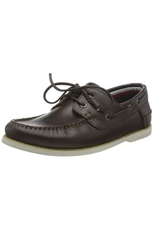 Tommy Hilfiger Hombre Loafers - Classic Leather Boat Shoe, Zapatillas DE Piel CLÁSICO Hombre