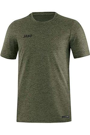 Jako Camiseta para Hombre Premium Basics, Caqui Jaspeado
