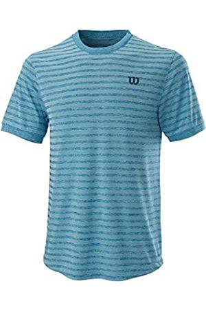 Wilson Hombre Camiseta de manga corta, STRIPE CREW