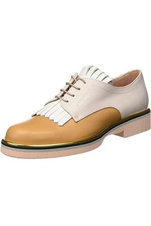 Pollini 865, Zapatos de Cordones Brogue Mujer, Multicolore (Hide Calf-White Calf-Iceberg Calf Platinum-Stone-Powder Sole)