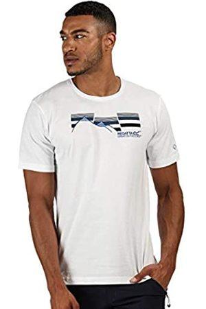 Regatta Breezed-Camiseta Deportiva Estampada De Algodón Y Manga Corta T-Shirts/Polos/Vests, Hombre