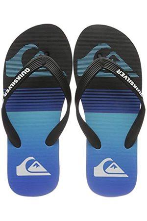 Quiksilver Molokai Slab, Flip-Flop Hombre, Black/Blue/Black