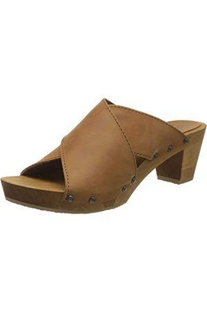 Sanita Ennike Square Flex Sandale, Mules para Mujer, (Cognac 15)