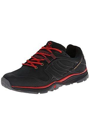 メラント Verterra Waterproof, Zapatillas de Senderismo para Hombre, Schwarz-Noir (Black Red)