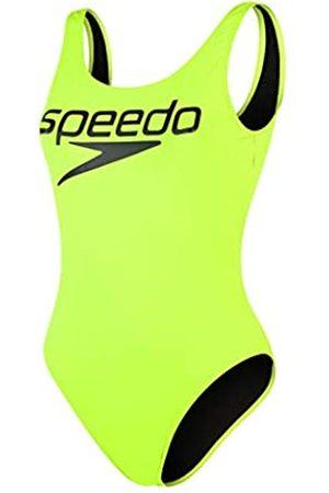 Speedo Logo Deep U-Back 1 Piece Swimsuit, Adult Female