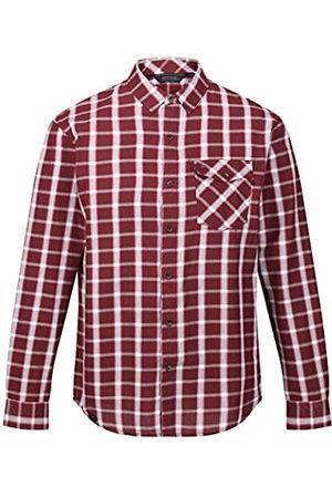 Regatta Lonan Camisa de Manga Larga de algodón Coolweave y Bolsillo a Cuadros en el Pecho Shirts, Hombre