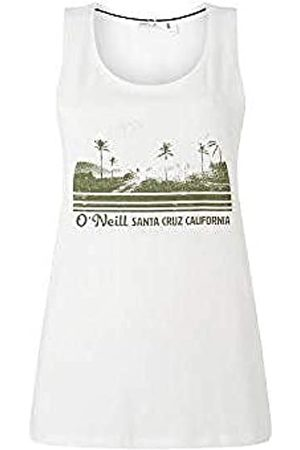 O'Neill LW Scarlet Graphic Camiseta Sin Mangas Tanktop para Mujer, Powder White
