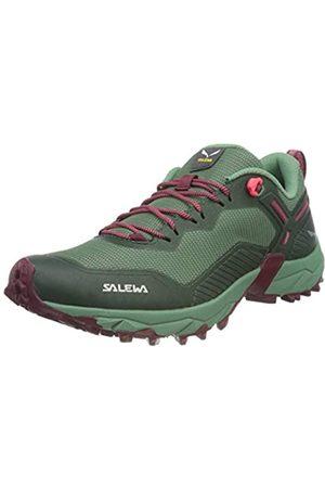 Salewa WS Ultra Train 3, Zapatillas para carrera de senderos Mujer, (Duck Green/Rhododendon)