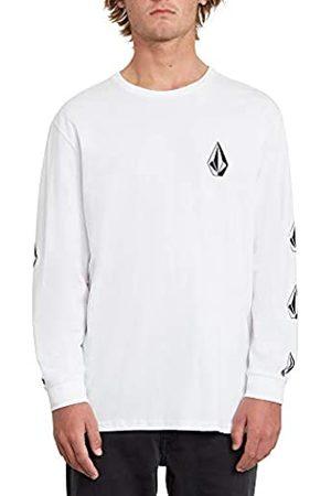 Volcom Deadly Stone BSC LS Camiseta De Manga Larga, Hombre, White