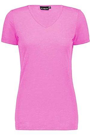 CMP T-Shirt In Lino con Protezione UPF 40 Camiseta, Mujer