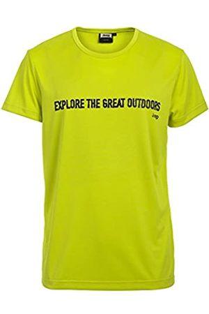 Jeep Camiseta QD «Explore The Great Outdoors» J6S para Hombre, Light Acid Green/Licorice