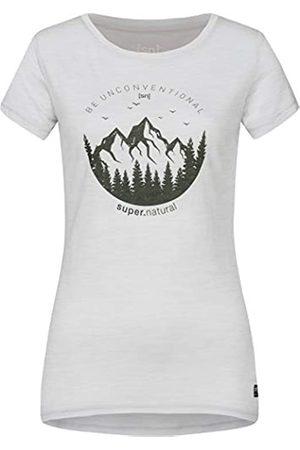Supernatural Super.natural Camiseta de Manga Corta para Mujer, con Lana de Merino, W Printed tee, Mujer, Camiseta de Manga Corta Estampada