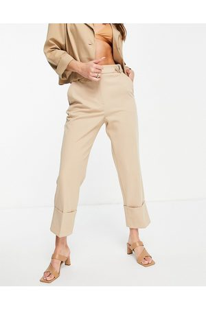 River Island Pantalones con dobladillos anchos de -Blanco