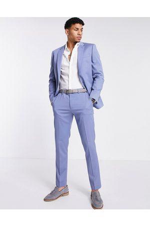 River Island Hombre Pantalones de traje - Pantalones de traje azules ajustados de