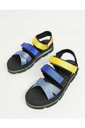 Tommy Jeans Sandalias negras con tiras de colores de