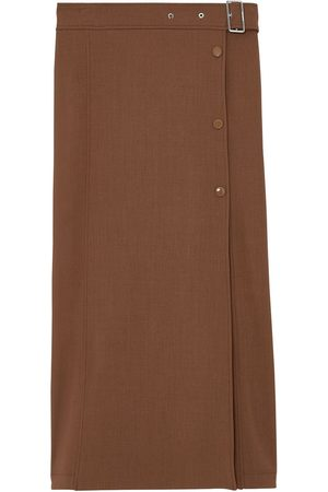 Burberry Falda midi con cinturón