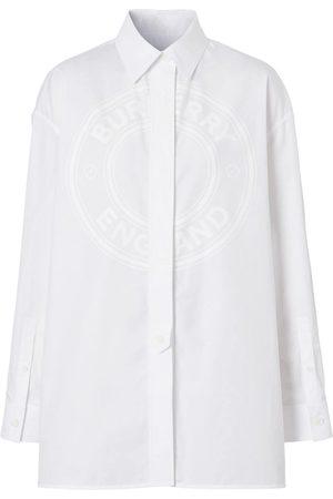 Burberry Mujer Camisas - Camisa oxford con logo