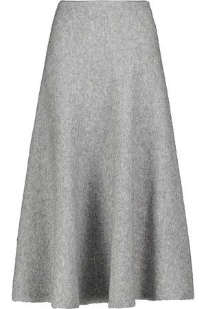 BROCK COLLECTION Mujer Midi - Falda midi en mezcla de lana