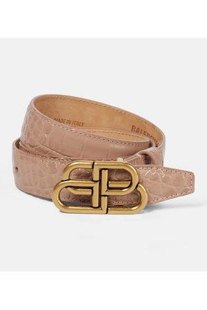 Balenciaga Mujer Cinturones - Cinturón BB de piel efecto coco