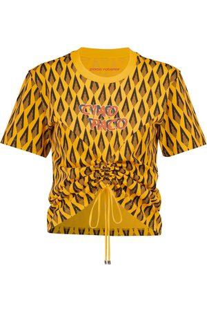 Paco rabanne Mujer Manga corta - Camiseta de algodón estampado
