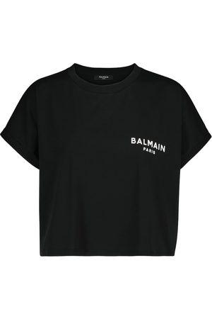 Balmain Camiseta de punto fino con logo
