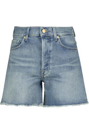 7 for all Mankind Shorts Billie de jeans de tiro alto